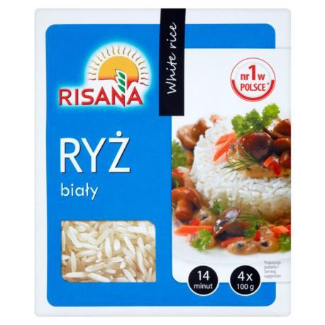 Risana Ryż biały 400 g (4 torebki)