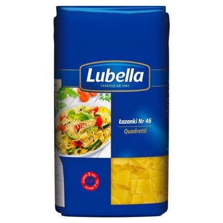 Lubella Quadretti Makaron Łazanki 500 g