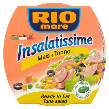 Rio Mare Insalatissime Mais e Tonno Goto we danie z warzyw i tuńczyka 160 g
