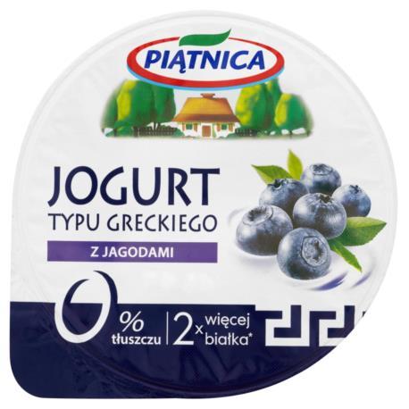 Piątnica Jogurt typu greckiego z jagodam i 150 g