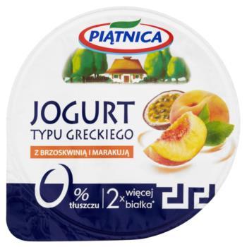 Piątnica Jogurt typu greckiego z brzoskw inią i marakują 150 g