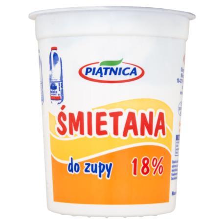 Piątnica Śmietana do zupy 18% 400 g