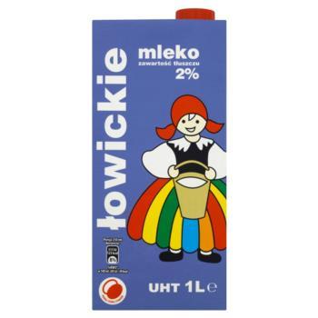 Łowicz Mleko łowickie UHT 2% 1 l