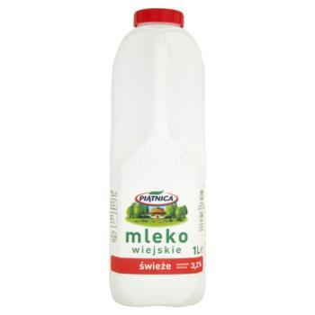 Piątnica Mleko wiejskie świeże 3,2% 1 l