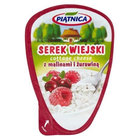Piątnica Serek wiejski z malinami i żura winą 150 g