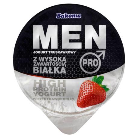 Bakoma Men Pro Jogurt truskawkowy z wyso ką zawartością białka 200 g