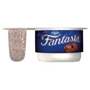 Danone Fantasia Jogurt kremowy z czekola dą mleczną 110 g