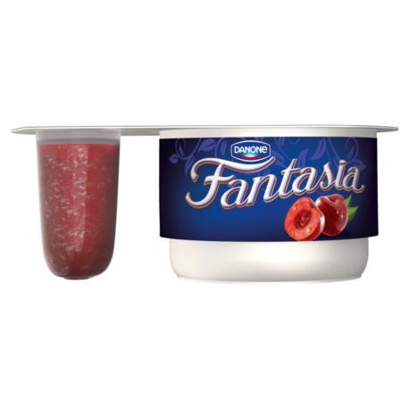 Danone Fantasia Jogurt kremowy z wiśniam i 122 g