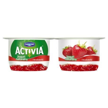 Danone Activia Jogurt naturalny i truska wki 240 g (2 sztuki)