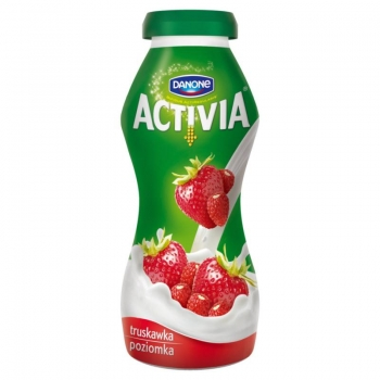 Danone Activia Truskawka poziomka Jogurt  195 g