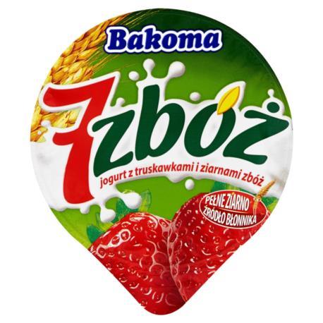 Bakoma 7 zbóż Jogurt z truskawkami i zia rnami zbóż 150 g