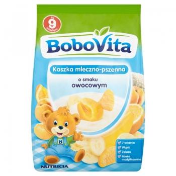 BoboVita Kaszka mleczno-pszenna o smaku  owocowym po 9 miesiącu 230 g