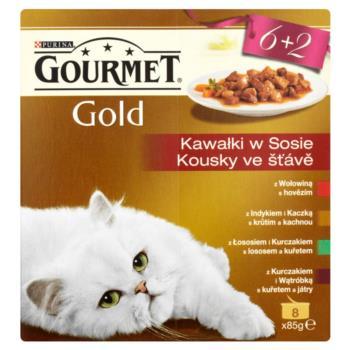 Gourmet Gold Kawałki w sosie Pełnoporcjo wa karma 680 g (8 sztuk)