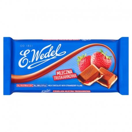 E. Wedel Czekolada mleczna truskawkowa 1 00 g