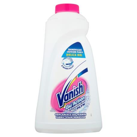 Vanish Oxi Action Krystaliczna biel Płyn  Odplamiacz do tkanin 1 l