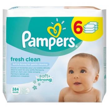 Pampers Baby Fresh Clean Chusteczki 6 x  64 sztuki