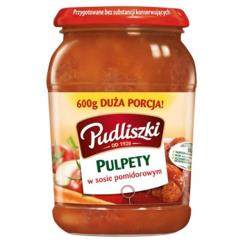 Pudliszki Pulpety w sosie pomidorowym 60 0 g