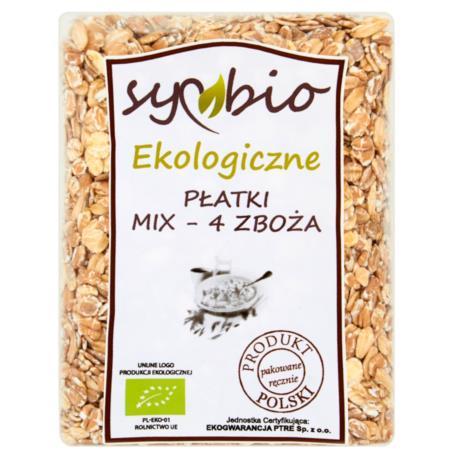 Symbio Płatki mix - 4 zboża ekologiczne  300 g