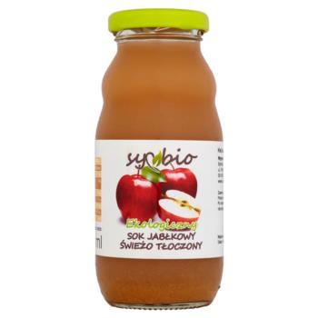 Symbio Sok jabłkowy świeżo tłoczony ekol ogiczny 200 ml