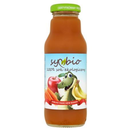 Symbio Jabłko marchew banan 100% sok eko logiczny 300 ml