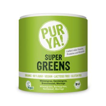 MIESZANKA ROŚLINNA W PROSZKU SUPER GREEN S BEZGLUTENOWA BIO 150 g - PUR YA!