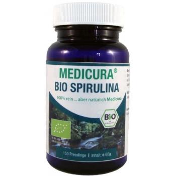SPIRULINA W PASTYLKACH (GLONY) BIO 60 g  (150 szt.) - MEDICURA