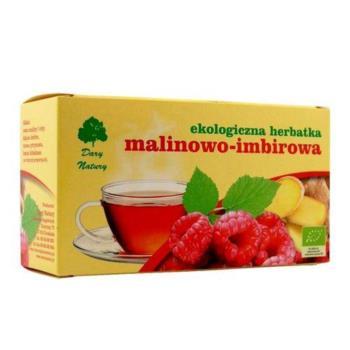 HERBATKA MALINOWO - IMBIROWA BIO (20 x 3  g) - DARY NATURY