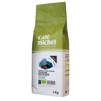 KAWA ZIARNISTA BEZKOFEINOWA ARABICA ETIO PIA FAIR TRADE BIO 1 kg - CAFE MICHEL