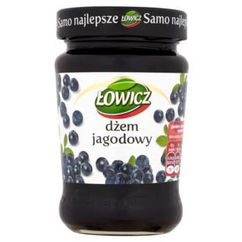 Łowicz Dżem jagodowy niskosłodzony 280 g