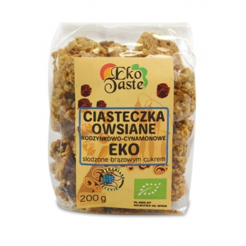 CIASTECZKA OWSIANE CYNAMONOWO - RODZYNKO WE  BIO 200 g - EKO TASTE (TAST)