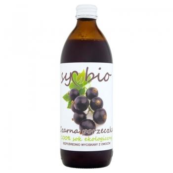 Symbio Czarna porzeczka 100% sok ekologi czny 500 ml