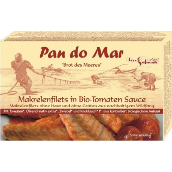 MAKRELA W BIO SOSIE POMIDOROWYM 120 g -  PAN DO MAR