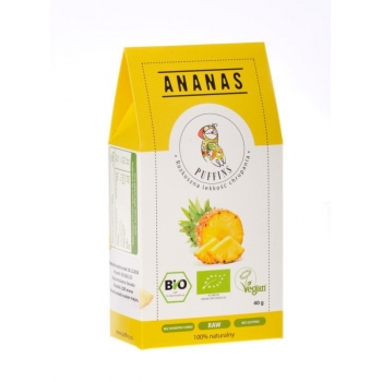 ANANAS SUSZONY BIO 40 g - PUFFINS