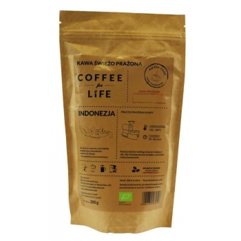 KAWA 100% ARABICA ZIARNISTA INDONEZJA BI O 200 g - ALE EKO CAFE