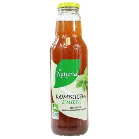 KOMBUCHA Z MIĘTA BIO 750 ml - NATURIA