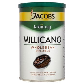 Jacobs Krönung Millicano Kompozycja kawy  rozpuszczalnej i bardzo drobno zmielony