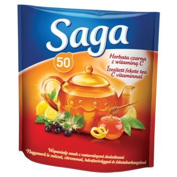 Saga Herbata czarna z witaminą C 85 g (5 0 torebek)