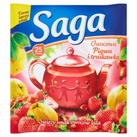 Saga Owocowa pigwa i truskawka Herbatka  45 g (25 torebek)