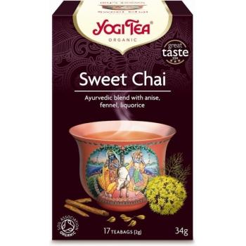 HERBATKA SŁODKI CHAI (SWEET CHAI) BIO (1 7 x 2 g) 34 g - YOGI TEA