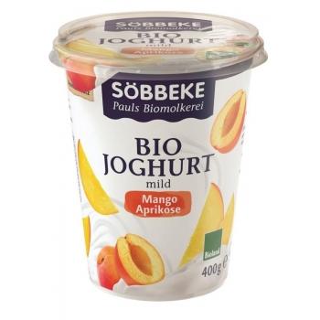 JOGURT MANGO-MORELA (3,8% TŁUSZCZU W MLE KU) BIO 400 g - SOBBEKE