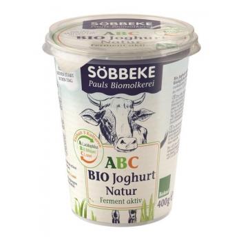 JOGURT PROBIOTYCZNY ABC (3,8% TŁUSZCZU W  MLEKU) BIO 400 g  - SOBBEKE