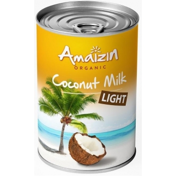 COCONUT MILK - NAPÓJ KOKOSOWY LIGHT W PU SZCE (9% TŁUSZCZU) BIO 400 ml -  AMAIZIN