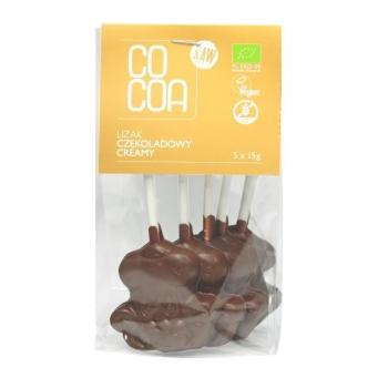 LIZAKI CZEKOLADOWE CREAMY BEZGLUTENOWE B IO (5 x 15 g) 75 g - COCOA