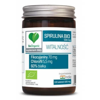 SPIRULINA BIO 100 TABLETEK (500 mg) - BE  ORGANIC