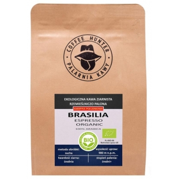 KAWA ZIARNISTA ARABICA 100 % BRAZYLIA FA IR TRADE BIO 250 g - COFFEE HUNTER