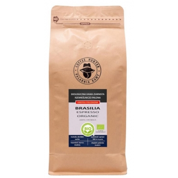 KAWA ZIARNISTA ARABICA 100 % BRAZYLIA FA IR TRADE BIO 1 kg - COFFEE HUNTER