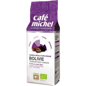 KAWA MIELONA ARABICA 100 % BOLIWIA FAIR  TRADE BIO 250 g - CAFE MICHEL
