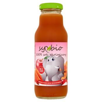 Symbio Jabłko marchew brzoskwinia 100% s ok ekologiczny 300 ml