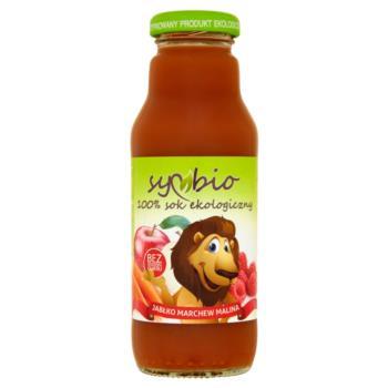 Symbio Jabłko marchew malina 100% sok ek ologiczny 300 ml