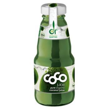 WODA KOKOSOWA NATURALNA SZKŁO BIO 200 ml  - COCO (DR. MARTINS)